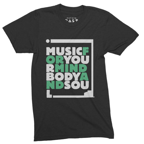 Music For Your Mind T-Shirt / Black - Future Past Clothing