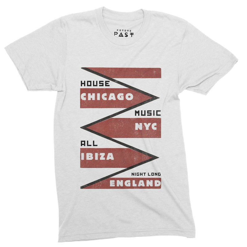 House Origins All Night T-Shirt / White - Future Past Clothing