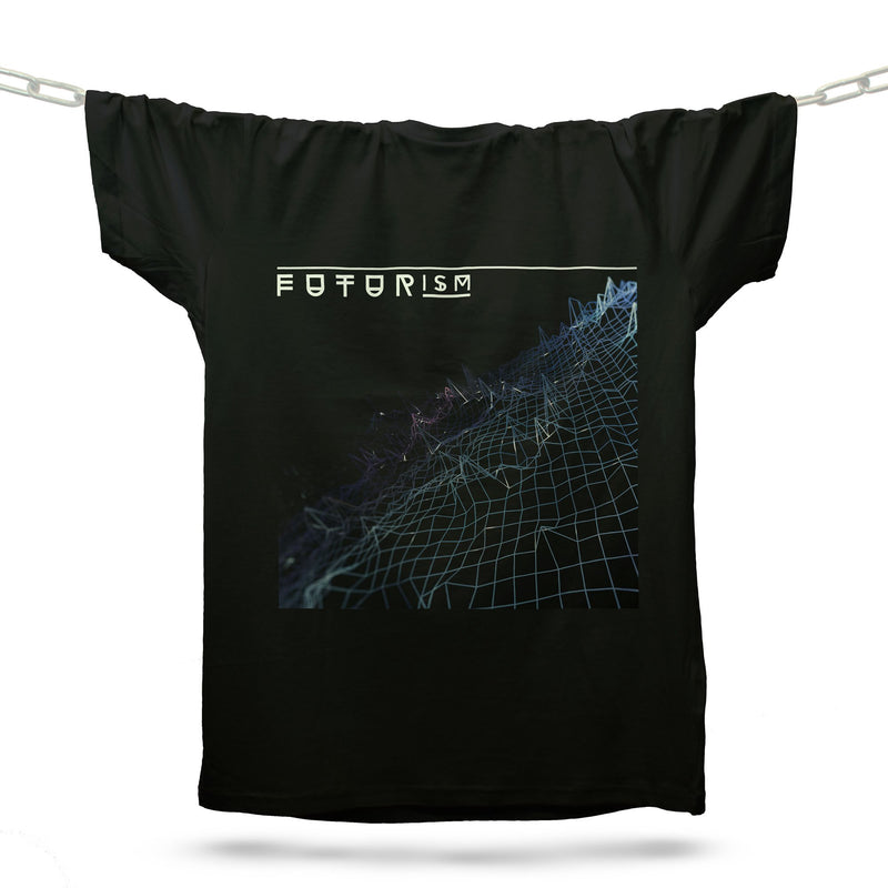 Futurism Techno T-Shirt / Black - Future Past Clothing