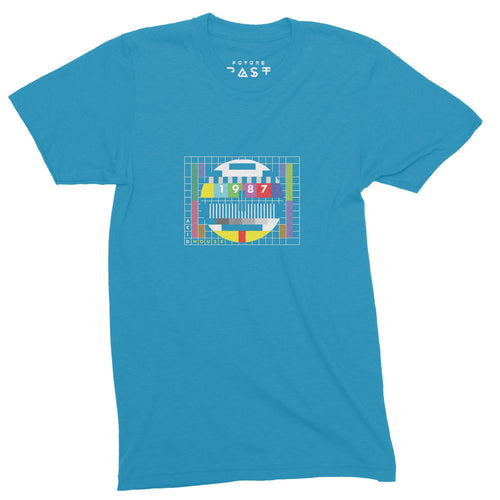 Acid House 1987 Test Card T-Shirt / Atoll - Future Past Clothing