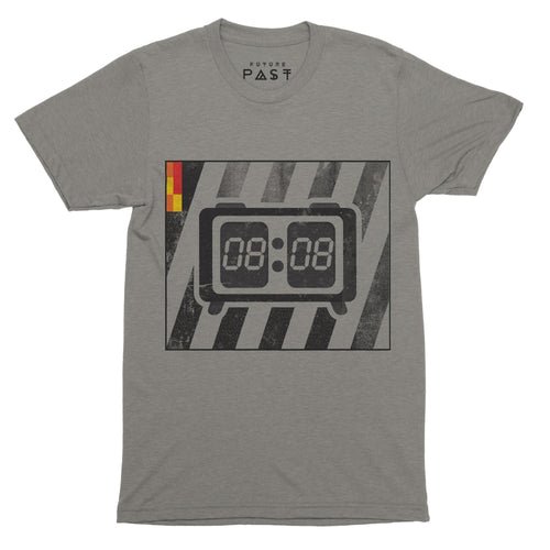 808 LCD Clock T-Shirt / Grey - Future Past Clothing