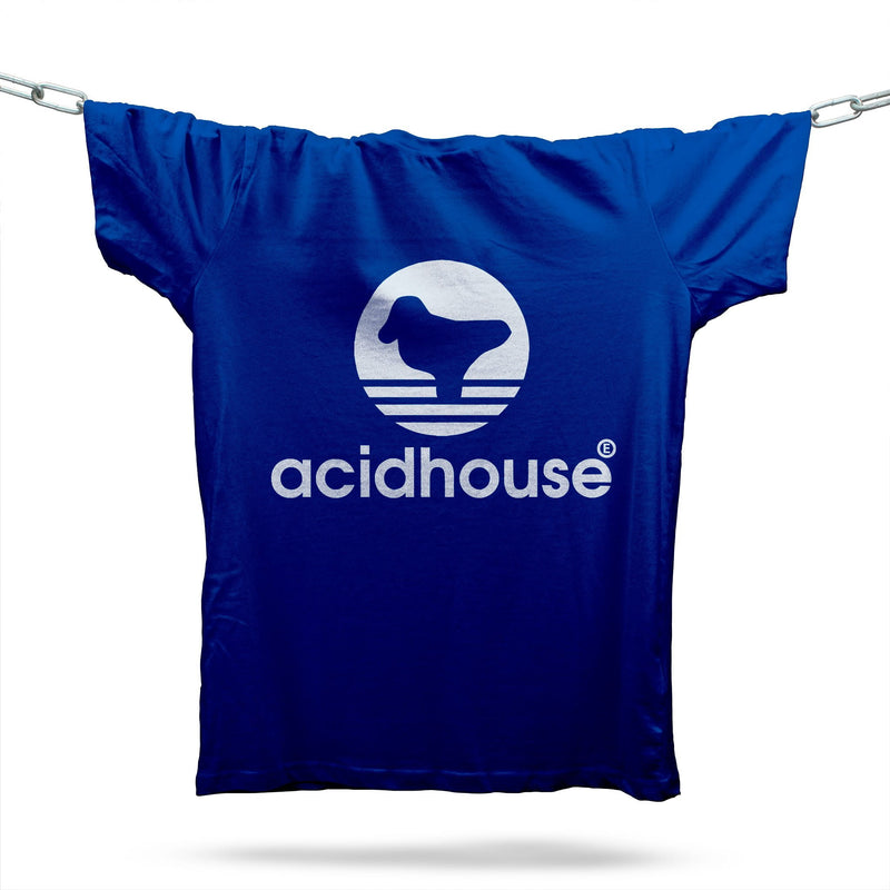 Acid House Sportswear T-Shirt / Royal - Future Past Clothing