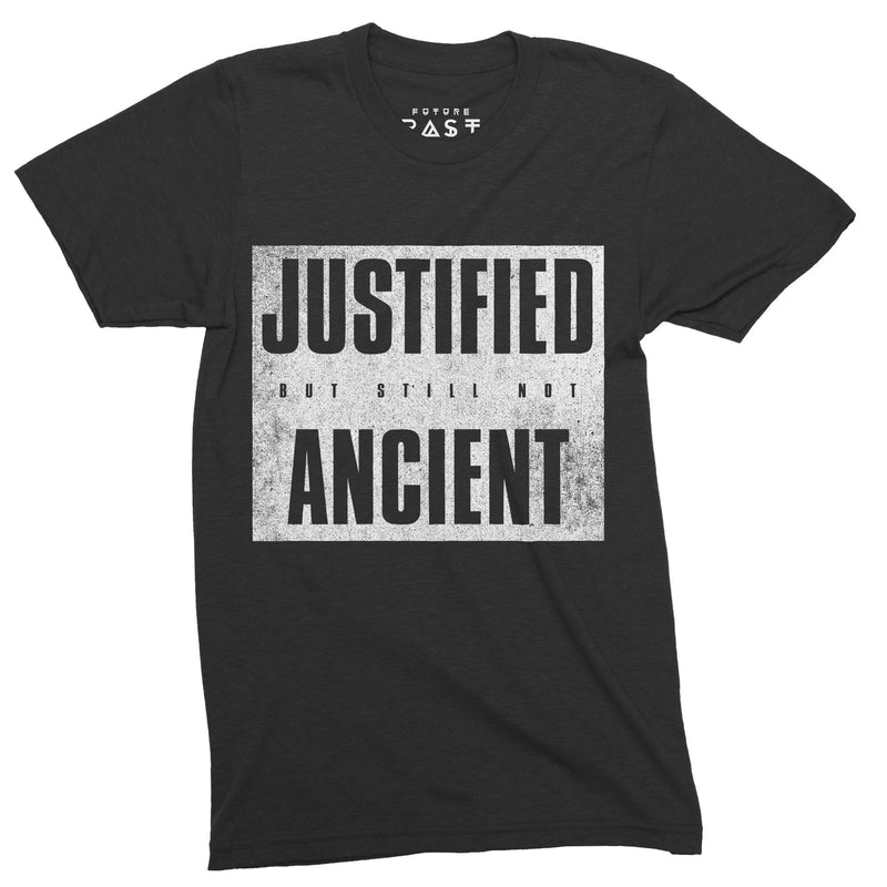 Justified But Not Yet Ancient T-Shirt / Black - Future Past Clothing