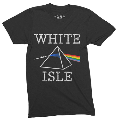 White Isle Side Of The Moon T-Shirt / Black - Future Past Clothing