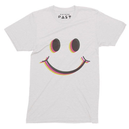Smiley Eyes T-Shirt / White - Future Past Clothing