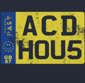 Acid House Private Vehicle Reg Plate T-Shirt / Navy - Future Past Clothing