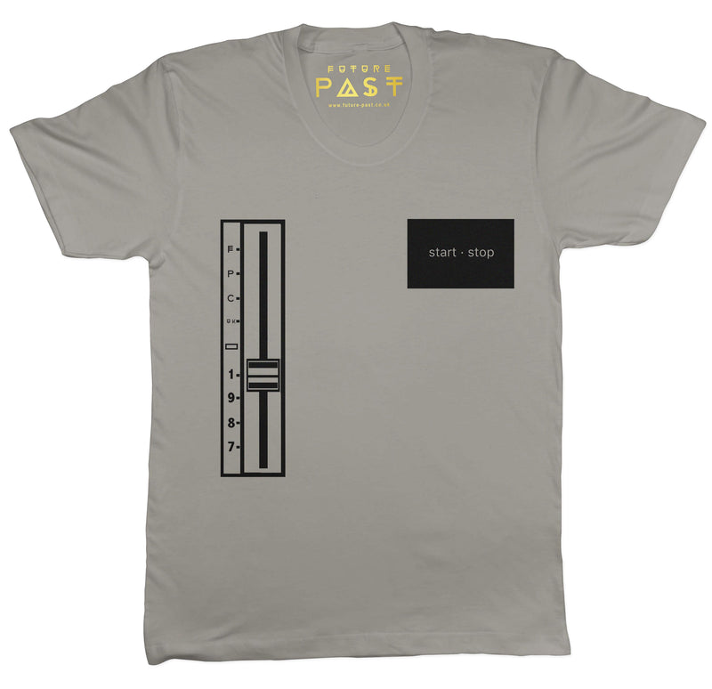 Start Stop Turntable T-Shirt / Grey - Future Past Clothing