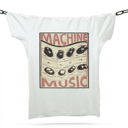 Machine Music T-Shirt / White - Future Past Clothing
