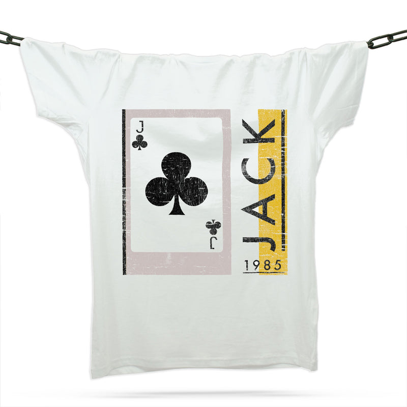 Jack Of Clubs 1985 T-Shirt / White - Future Past Clothing