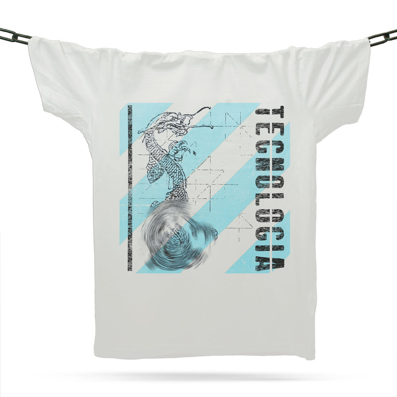 Curse Of Technology Futurista T-Shirt / White - Future Past Clothing