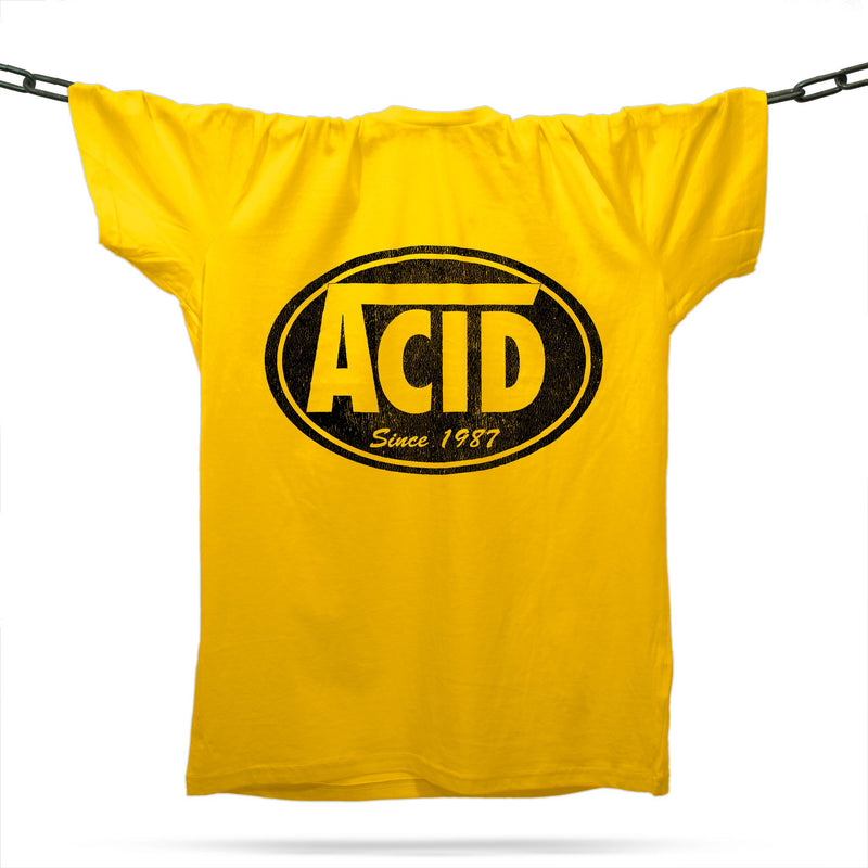 Acid Skatewear T-Shirt / Gold - Future Past Clothing