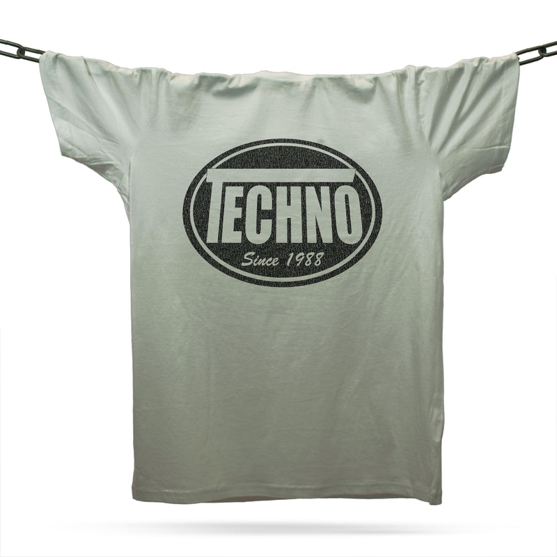 Techno Skatewear T-Shirt / Grey - Future Past Clothing