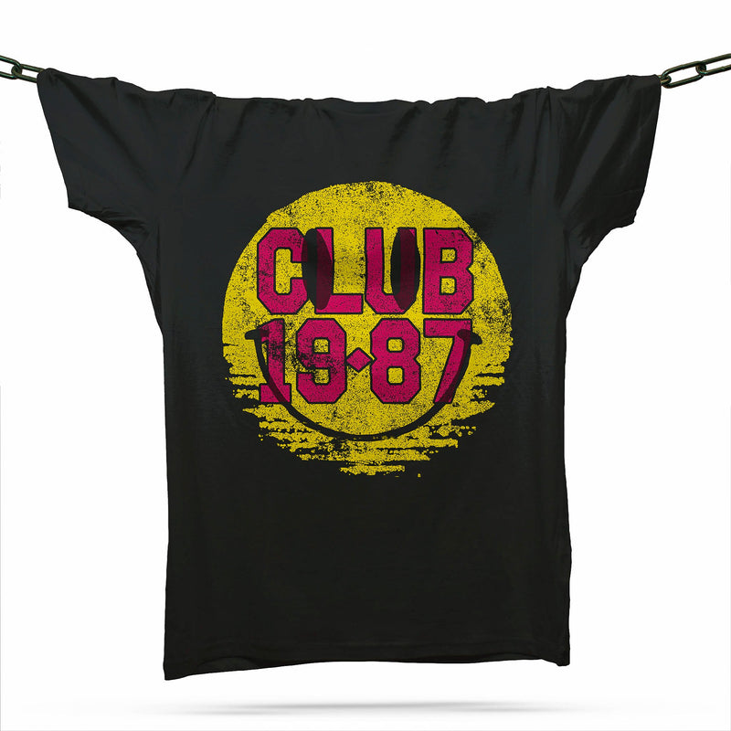 Club 19-87 Acid House T-Shirt / Black - Future Past Clothing