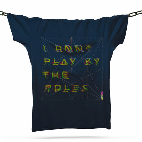 I Don't Play By The Rules T-Shirt / Navy - Future Past Clothing