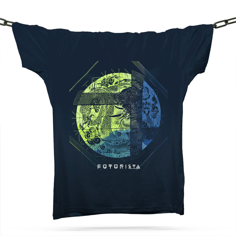 Futurista Dragon T-Shirt / Navy - Future Past Clothing