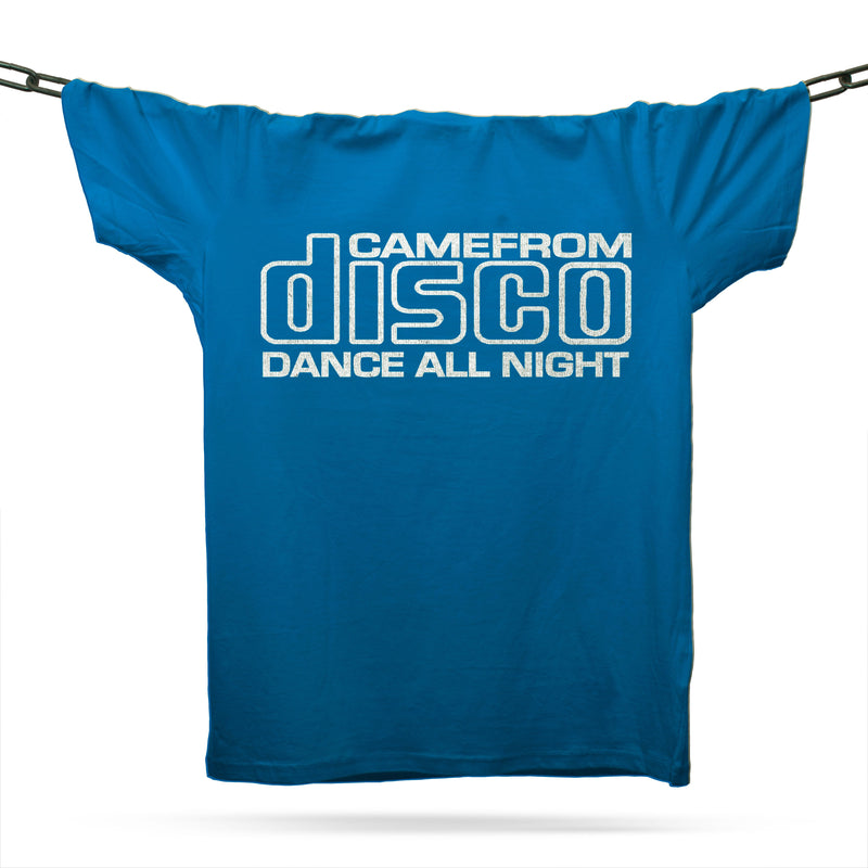 Compact Disco T-Shirt / Royal - Future Past Clothing
