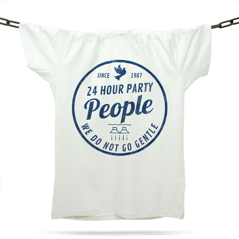 24 Hour Party People T-Shirt / White - Future Past Clothing