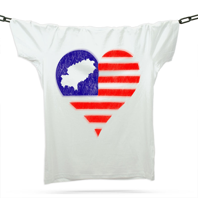 Ibiza Love Heart T-Shirt / White - Future Past Clothing