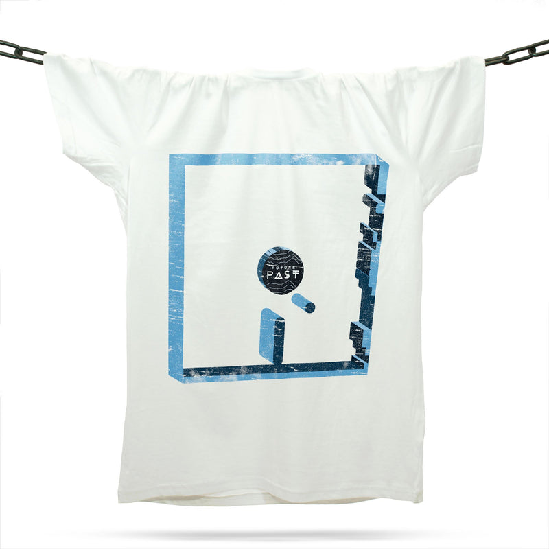 Monday Blue 3D T-Shirt / White - Future Past Clothing