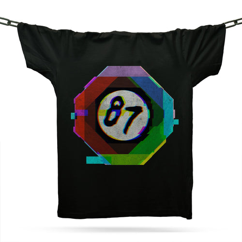 Nineteen Eighty Seven 87 T-Shirt / Black - Future Past Clothing