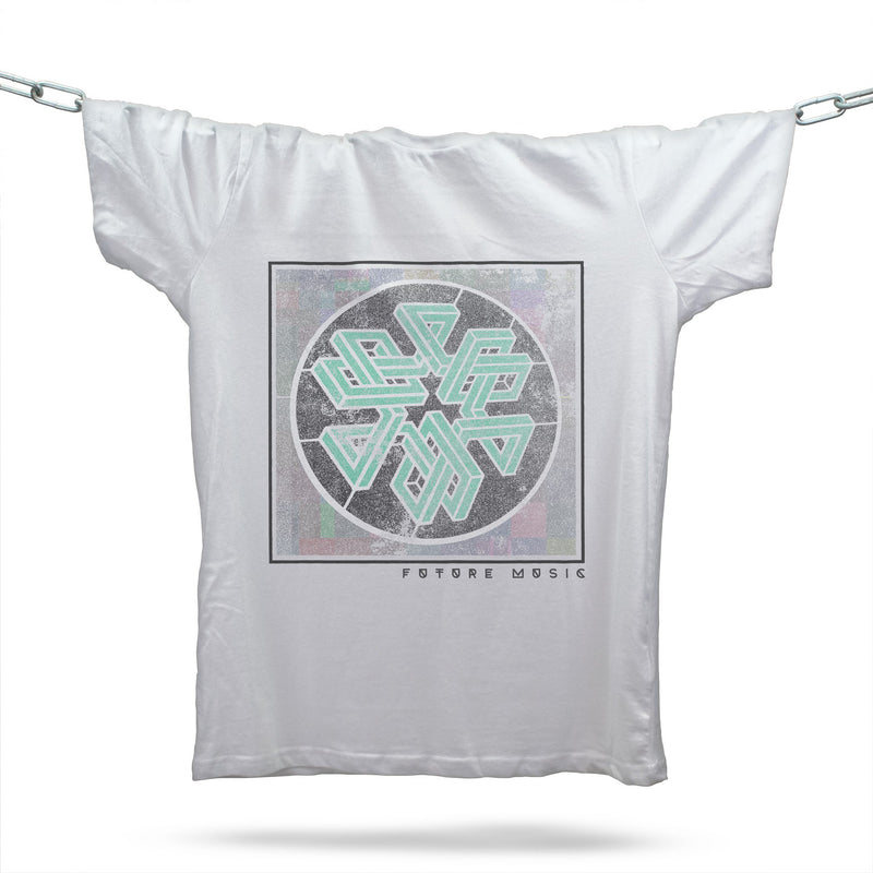 Future Music Techno T-Shirt / White - Future Past Clothing