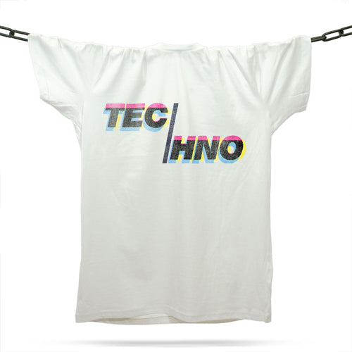 Total Techno T-Shirt / White - Future Past Clothing