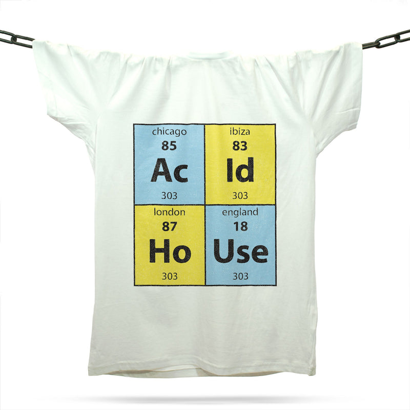Acid House Elements T-Shirt / White - Future Past Clothing