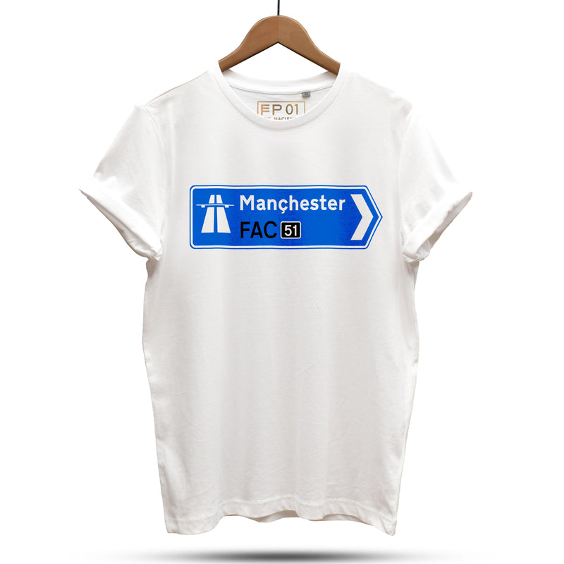 Official Hacienda FAC51 Collaboration T-Shirt / White - Future Past Clothing
