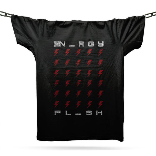 Flash Of Energy T-Shirt / Black - Future Past Clothing