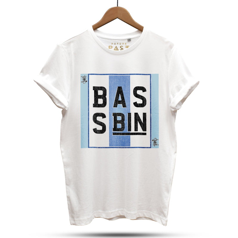 Bass Bin T-Shirt / White - Future Past Clothing