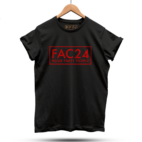 Official Hacienda FAC51 Party People Collaboration T-Shirt / Black - Future Past Clothing