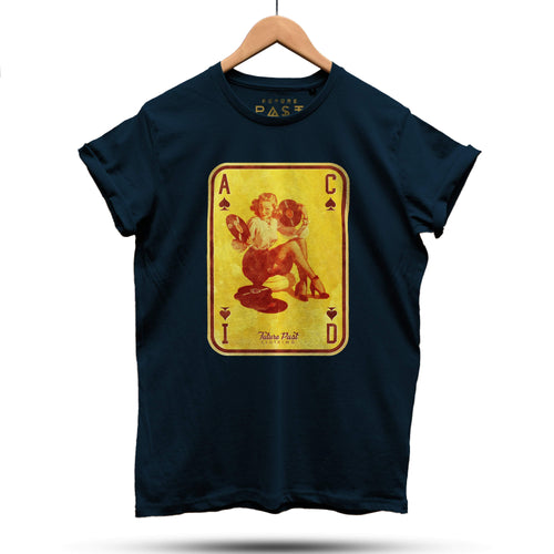 Acid House Pinup Girl Part 2 T-Shirt / Navy Blue - Future Past Clothing