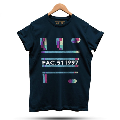 Official Hacienda FAC51 1997 Collaboration T-Shirt / Navy - Future Past Clothing