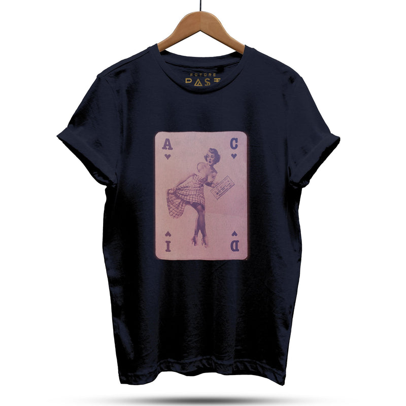 Acid House Pinup Girl Part 4 T-Shirt / Navy - Future Past Clothing