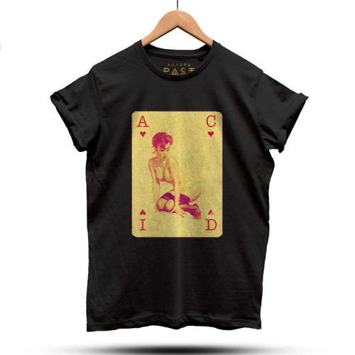 Acid House Pinup Girl Part 3 T-Shirt / Black - Future Past Clothing