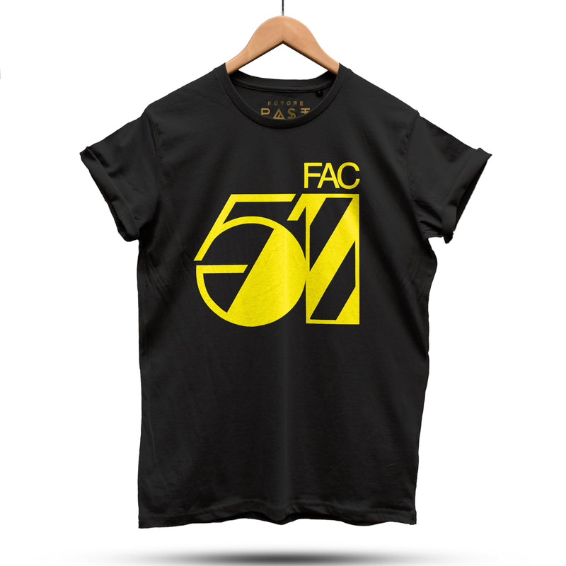 Official Hacienda FAC51 Studio T-Shirt / Black - Future Past Clothing