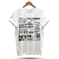 Acid House Headline Hysteria T-Shirt / White - Future Past Clothing