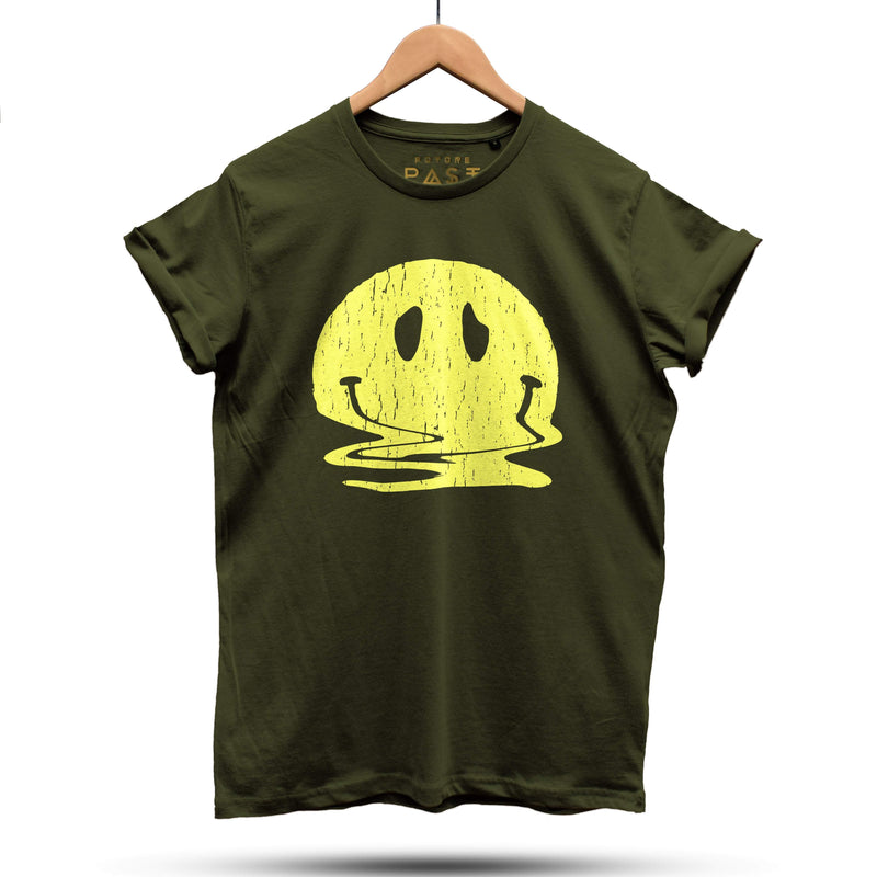 Melted But Still Smiling T-Shirt / Khaki - Future Past Clothing