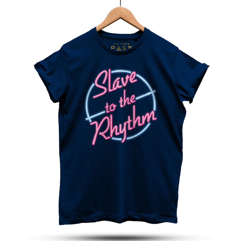 Slave To The Neon Rhythm T-Shirt / Navy - Future Past Clothing