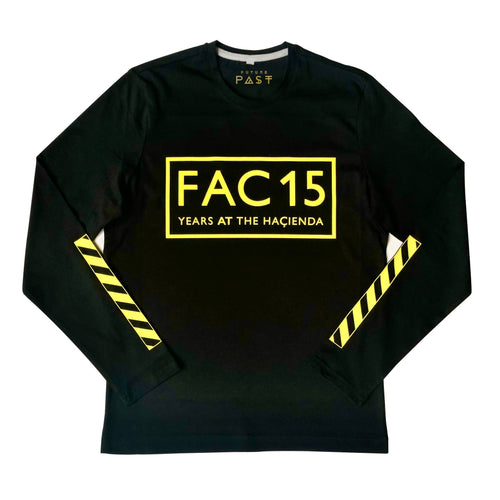 Official Hacienda FAC51 Collaboration 15 Years Long Sleeve T-Shirt / Black - Future Past Clothing
