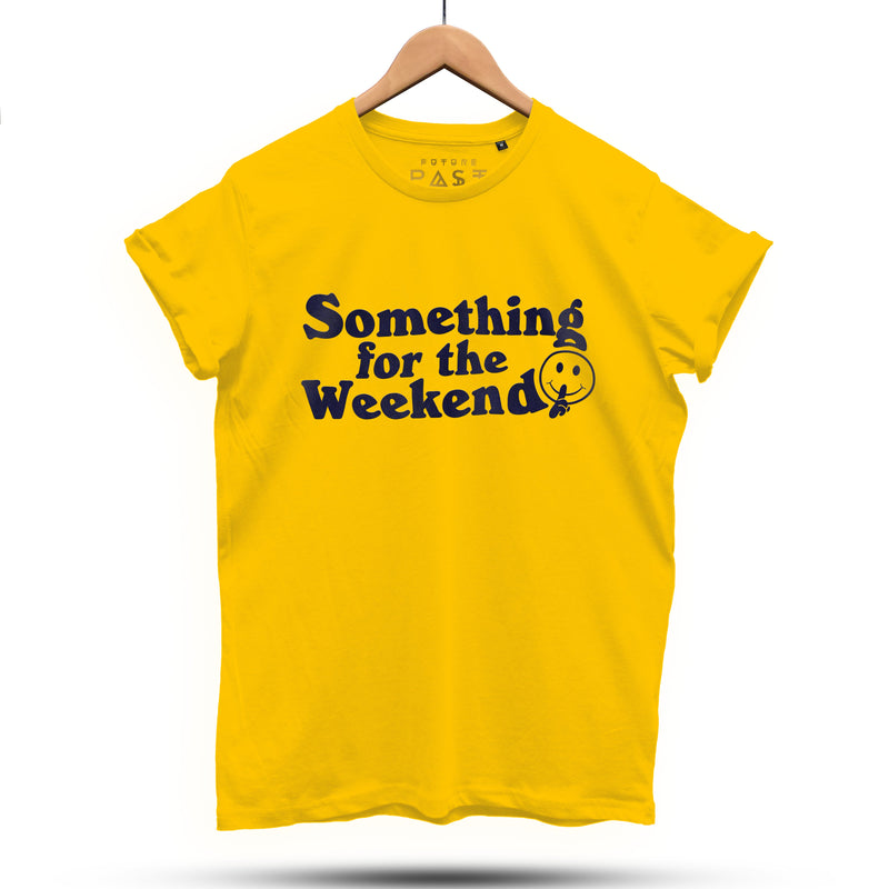 Something for the Weekend T-Shirt / Yellow Gold - Future Past Clothing
