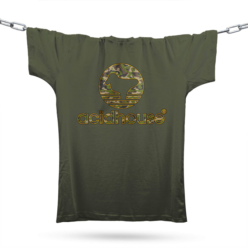 Camouflage Acid Sportswear T-Shirt / Khaki - Future Past Clothing