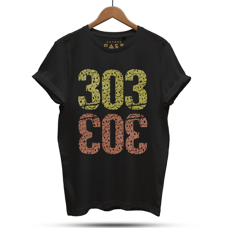 One Love 303 T-Shirt / Black - Future Past Clothing