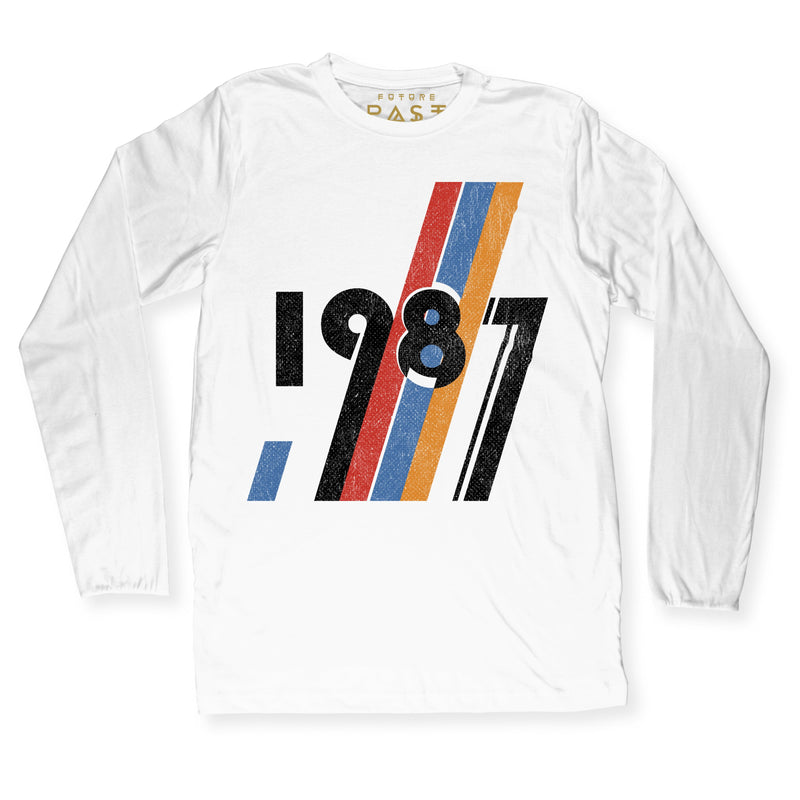 The Dawn of 1987 Long Sleeve T-Shirt / White - Future Past Clothing