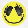Headphone Smiler Long Sleeve T-Shirt / White - Future Past Clothing