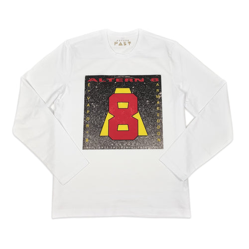Official Altern-8 E-Vapor-8 Long Sleeve T-Shirt / White - Future Past Clothing
