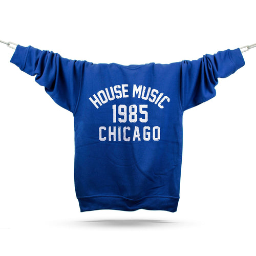 Chicago House Music 1985 Premium Sweatshirt / Royal - Future Past Clothing
