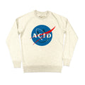 Acid Space Agency Premium Sweatshirt / Cream Marl - Future Past Clothing