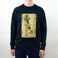 Acid Pin-Up Girl Premium Sweatshirt / Black - Future Past Clothing