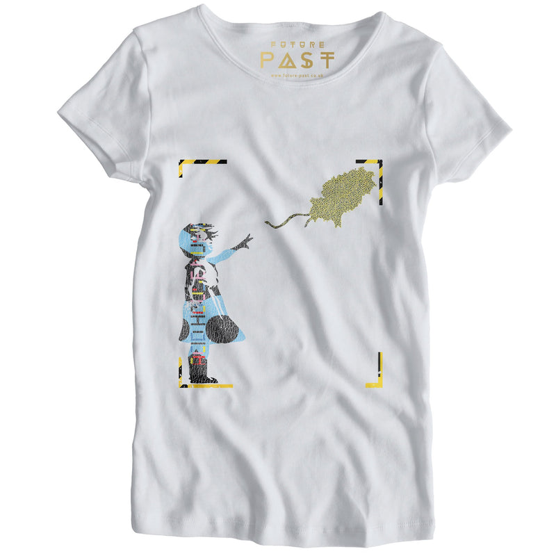 Girl With Acid Balloon Women's T-Shirt / White - Future Past Clothing